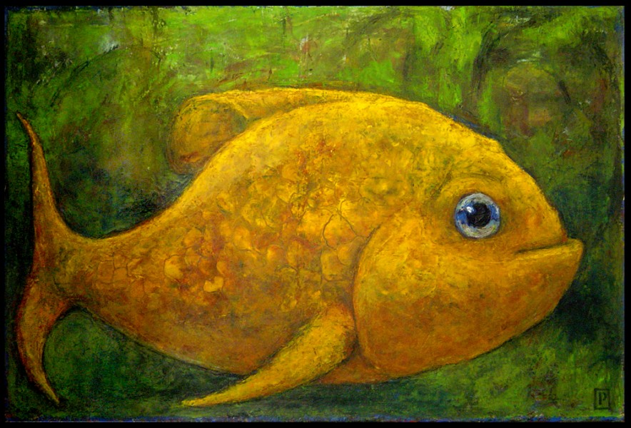 """Fish"" Oil on canvas, 48"" x 31"" SOLD"